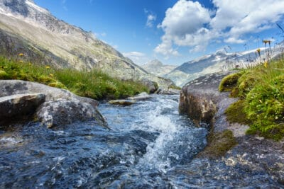 fresh spring water directly from the mountains of Tyrol in Austria