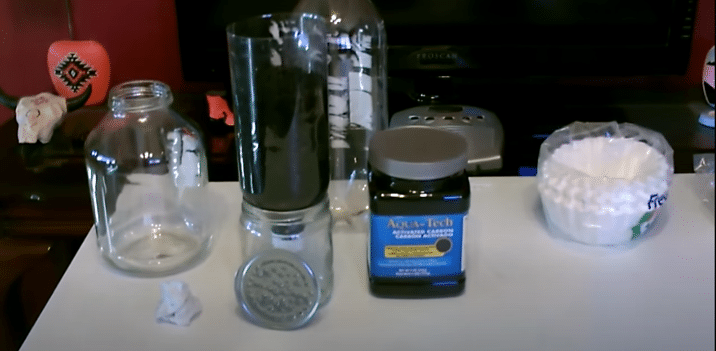 using your homemade water filter