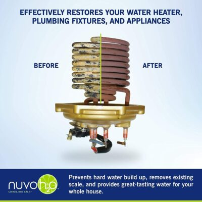 NuvoH2O Home Water Softener System Before and After