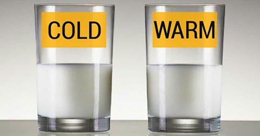 cold vs warm water