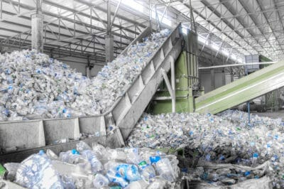 plastic being recycled