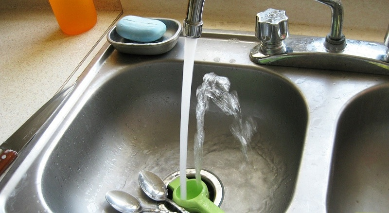 sink faucet and utensils